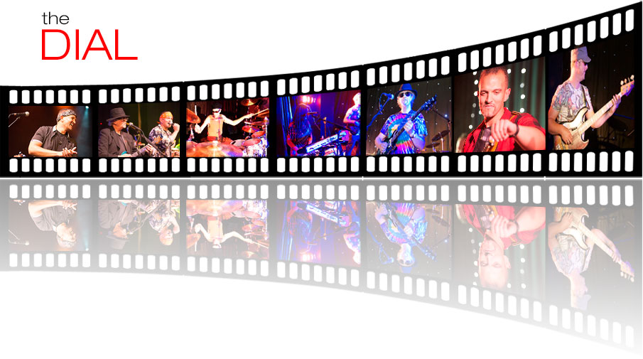Film Strip images of a party band
