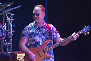 Bass guitarist with Santana Tribute Band
